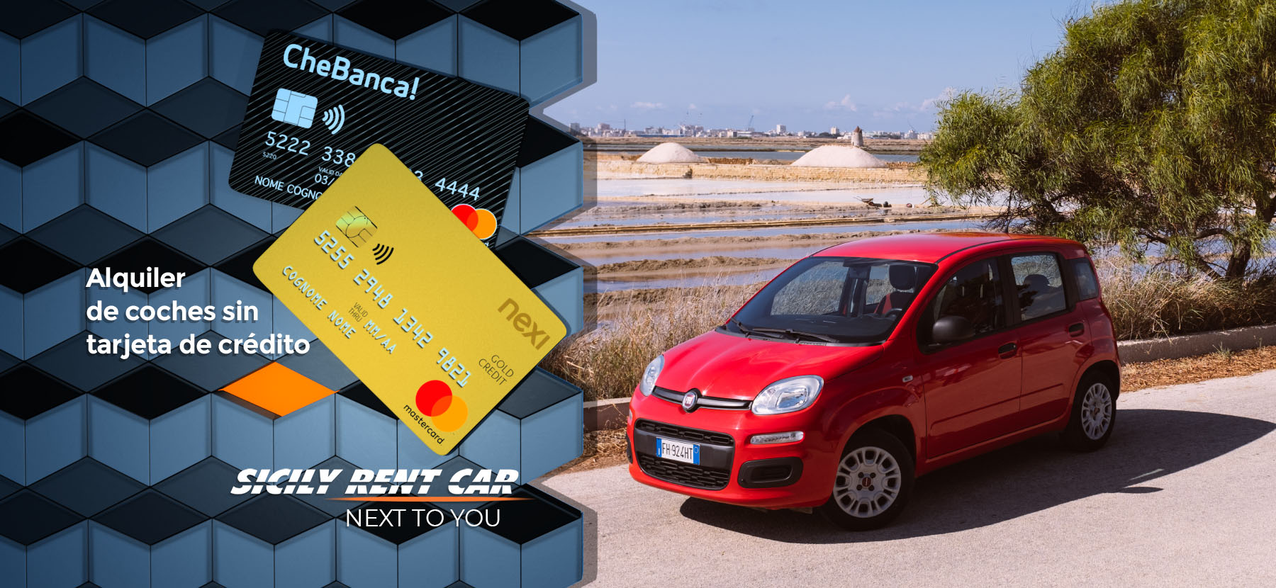 Alquiler de coches sin tarjeta de crédito